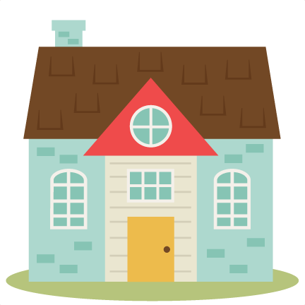 Five pieces make house cliparts png freeuse library Cute House Set SVG cutting files home svg cut file free svgs free ... png freeuse library