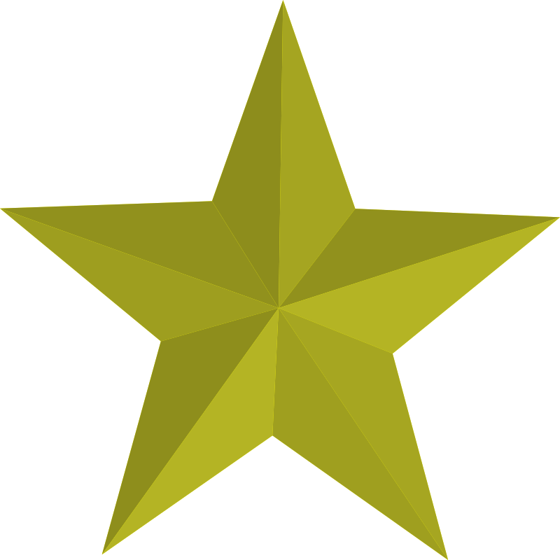 Five point star clipart clip freeuse library Clipart - Gold Five-Pointed Star clip freeuse library