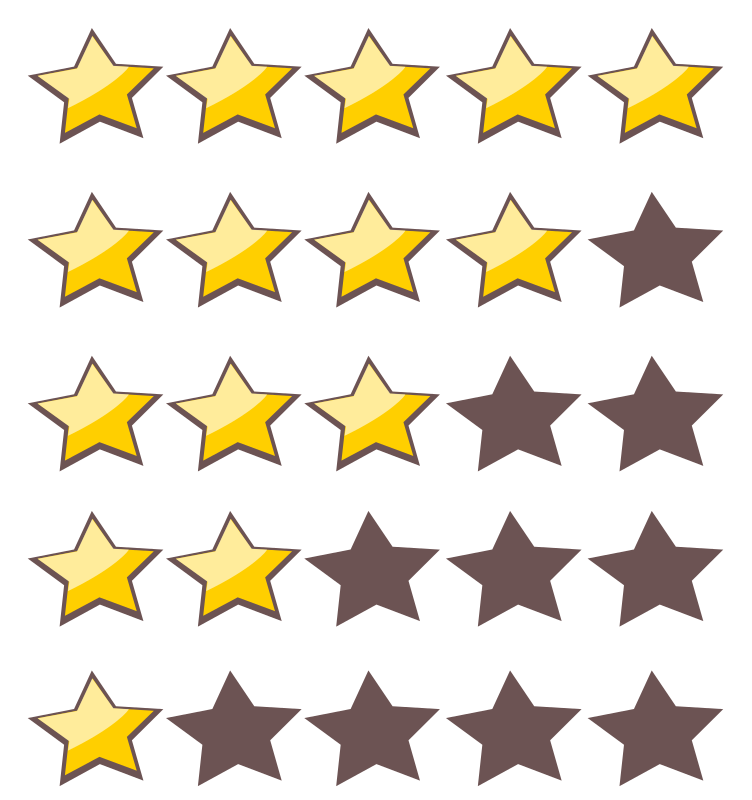 Five pointed star clipart clipart royalty free download 5-Star Rating System ⋆ Free Stock Images clipart royalty free download