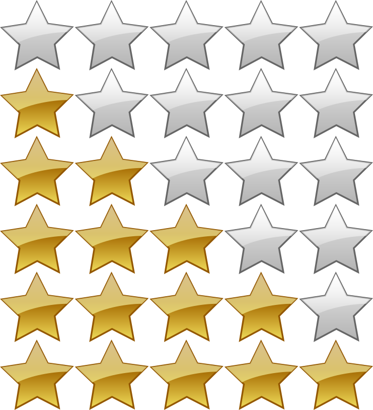 Five star rating clipart image free download Clipart - 5 Star Rating System image free download