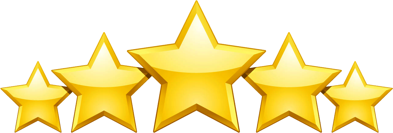 Five star rating clipart png Reviews - Iceman Trading Academy png