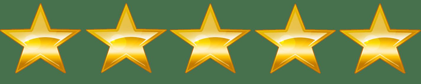 Five star rating clipart png freeuse 5:5 Sparkling Gold Stars Rating transparent PNG - StickPNG png freeuse