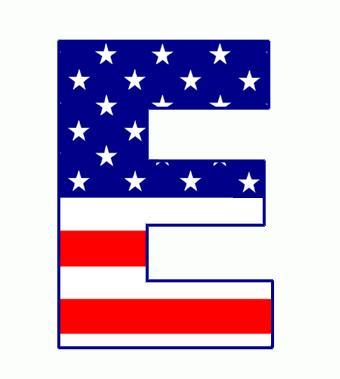 Flag alphabet letters clipart