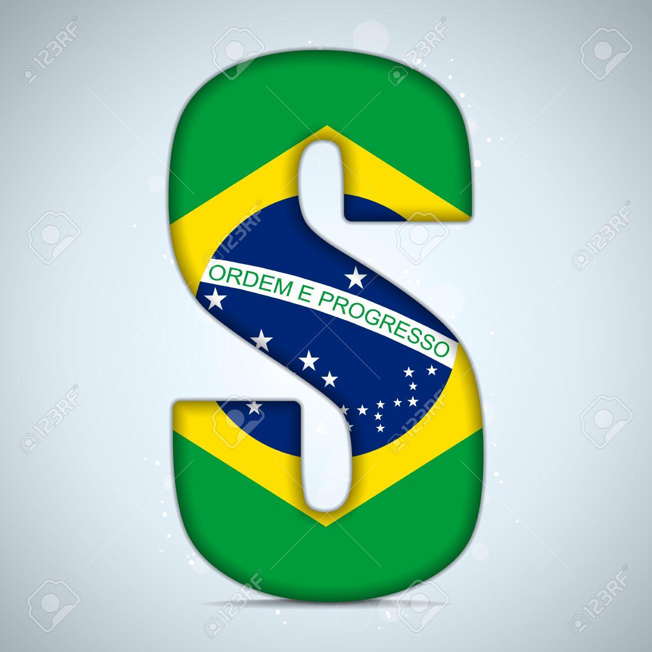 Flag alphabet letters clipart black and white stock Brazil Flag Brazilian Alphabet Letters Words Royalty Free Cliparts ... black and white stock