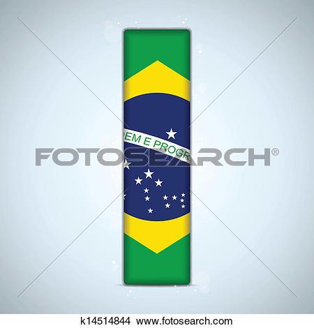 Flag alphabet letters clipart black and white download Clipart of Brazil Flag Brazilian Alphabet Letters Words k14514844 ... black and white download