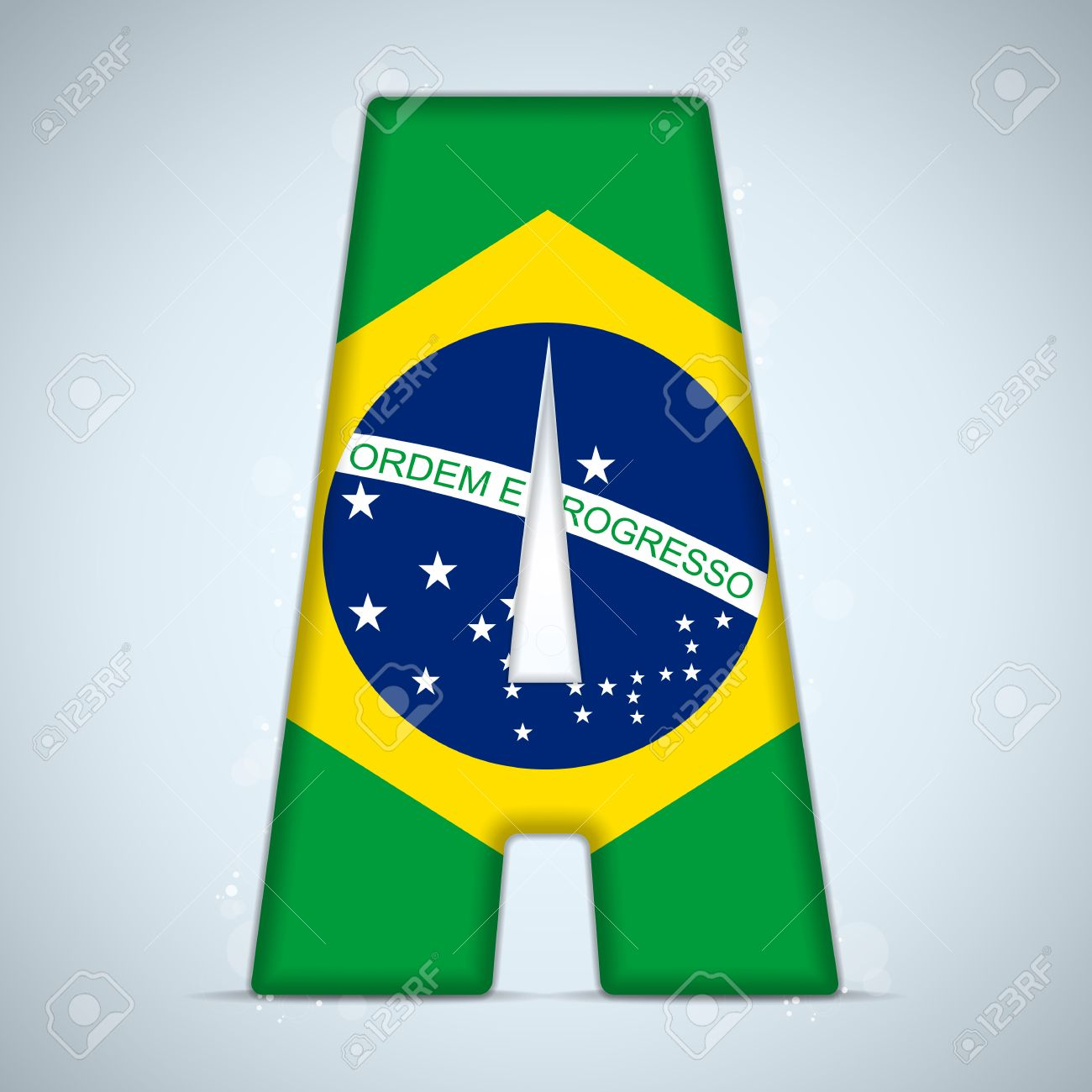 Flag alphabet letters clipart image library Brazil Flag Brazilian Alphabet Letters Words Royalty Free Cliparts ... image library