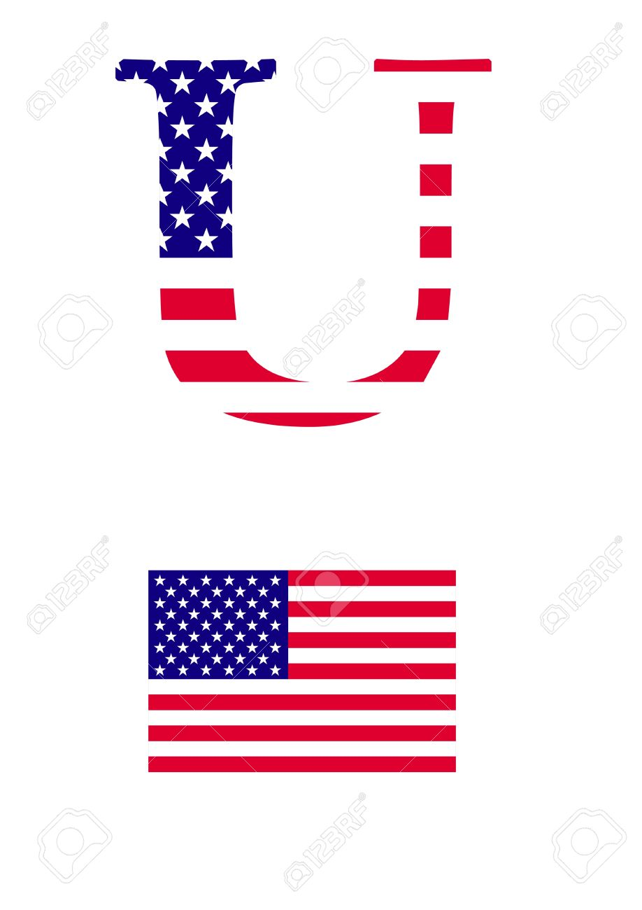 Flag alphabet letters clipart clip art transparent stock The Letter U In The Form Of American Flag Royalty Free Cliparts ... clip art transparent stock