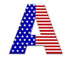 Flag alphabet letters clipart picture transparent stock Patriotic American Flag 3D Alphabet Upper case Letters Digital ... picture transparent stock