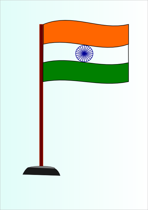 Indian national i royalty. Flag with cross clipart