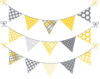 Flag banner yellow and gray png clipart jpg royalty free library Blue flag banner clipart png - Clip Art Library jpg royalty free library