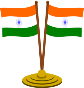 Flag clipart india picture library download India Flags Clip Art at Clker.com - vector clip art online, royalty ... picture library download