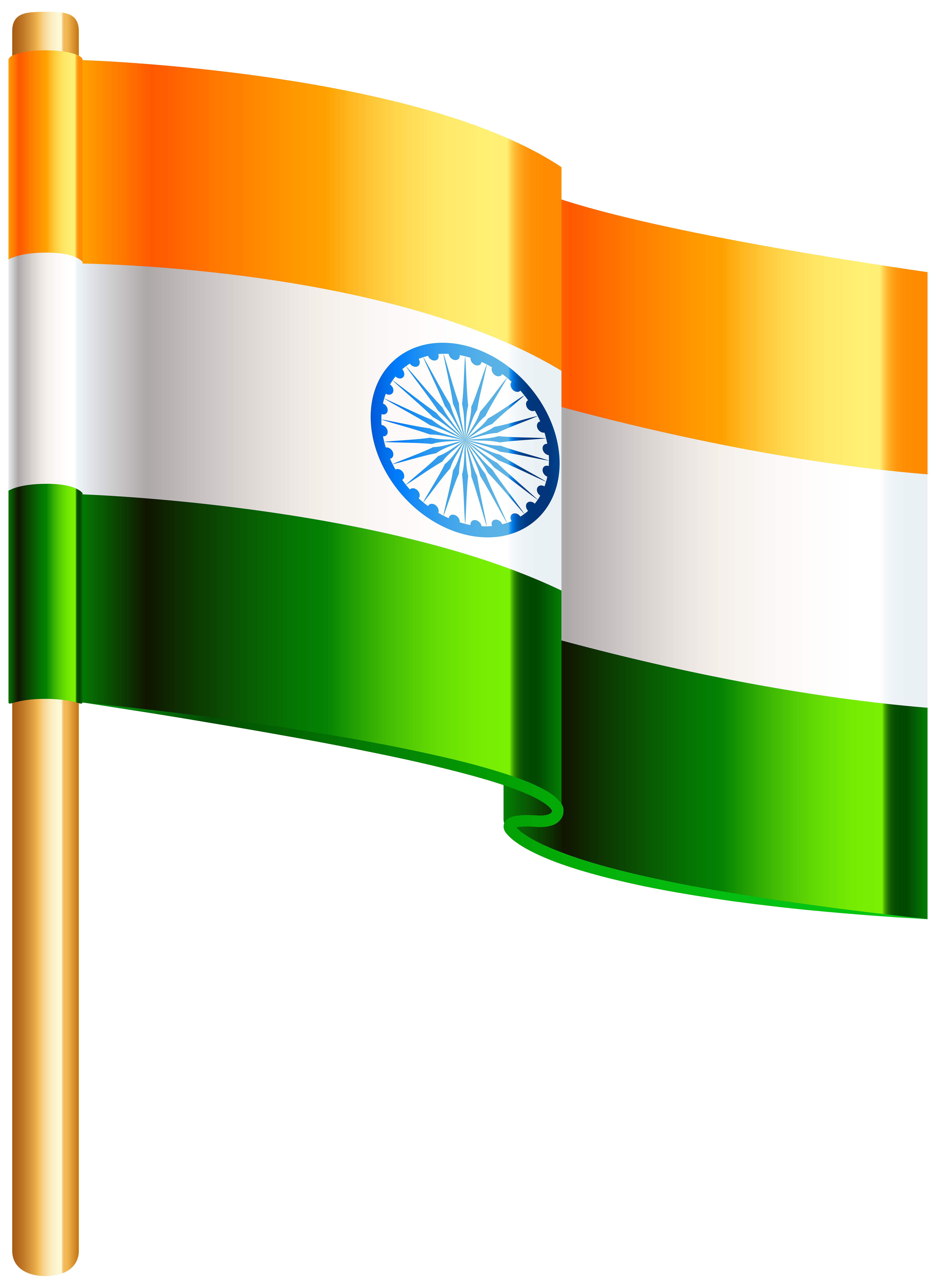 Indian full flag clipart vector black and white library India Flag PNG Clip Art Image | Gallery Yopriceville - High-Quality ... vector black and white library