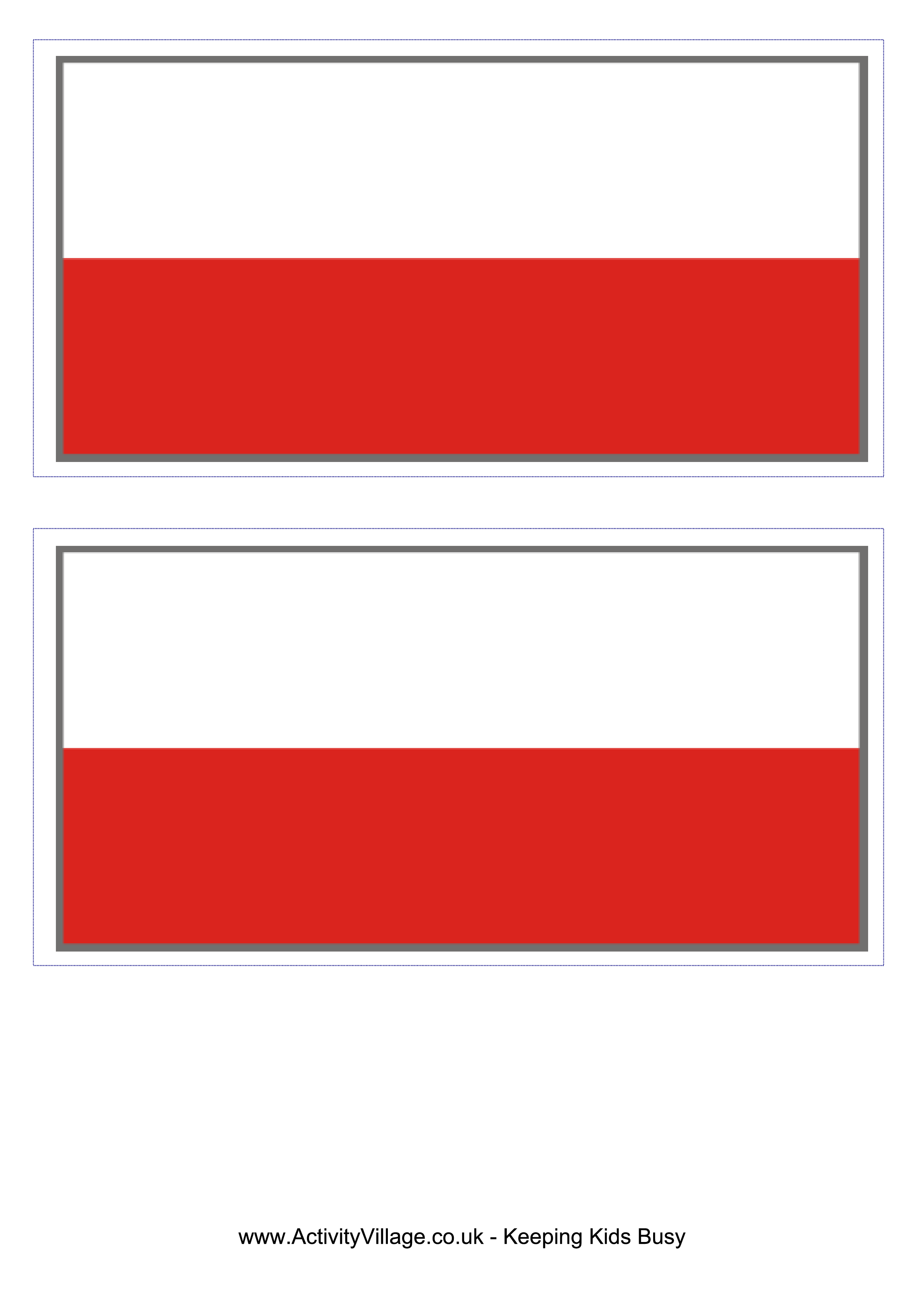 Flag football border clipart free Poland Flag - Download this free printable Poland template A4 flag ... free