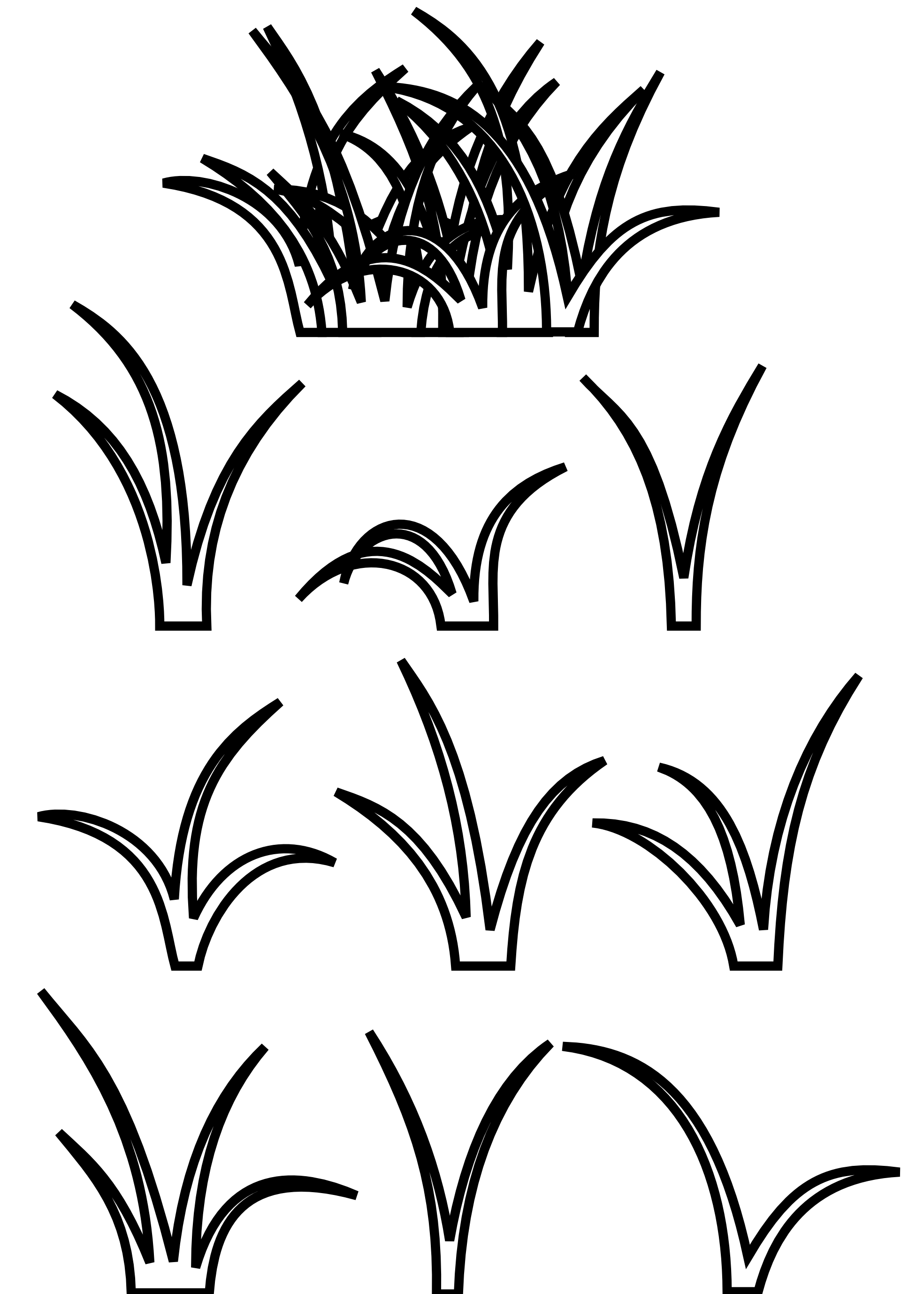 Grass . Flag football clipart black and white