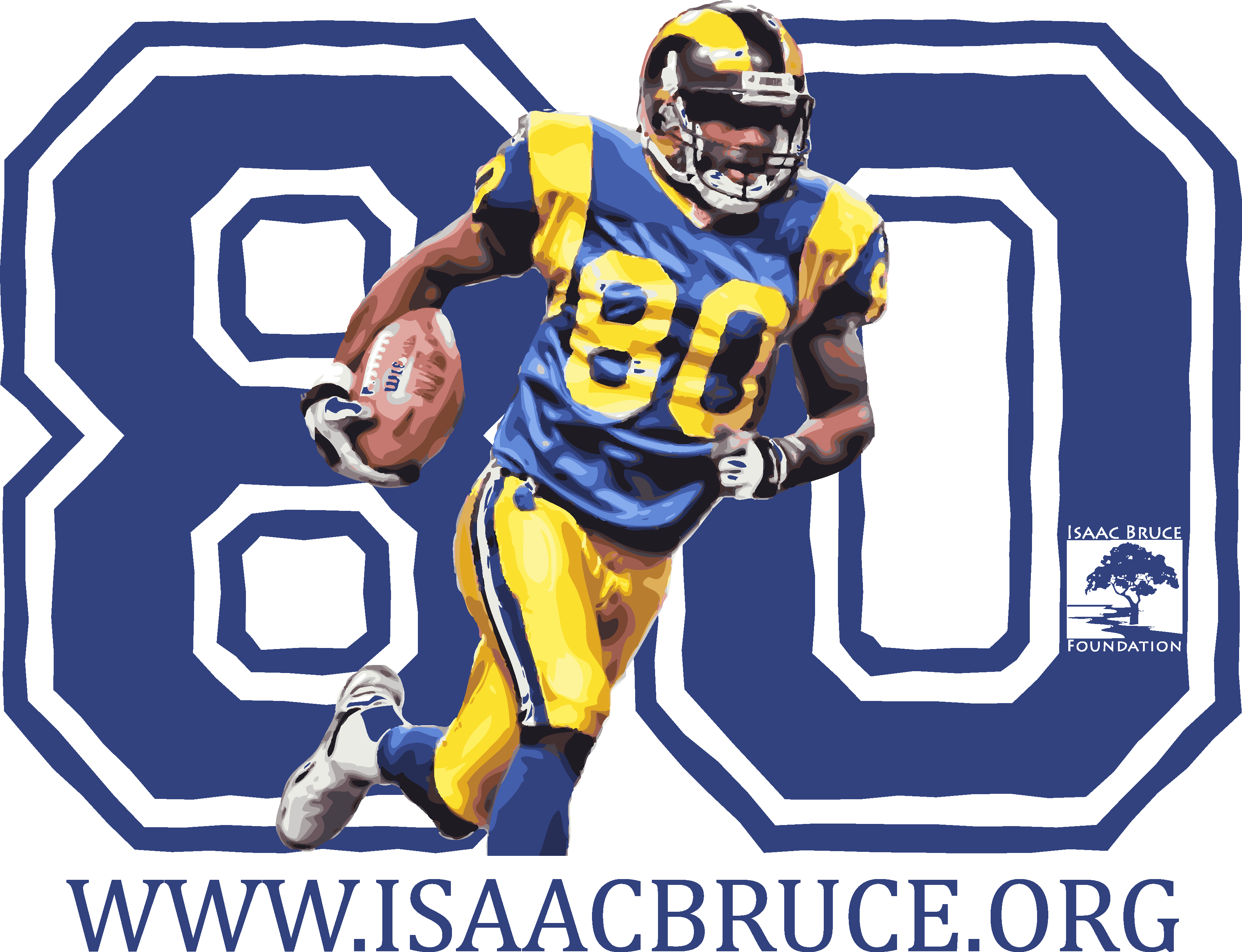 Flag football clipart free clip transparent Isaac Bruce Foundation clip transparent