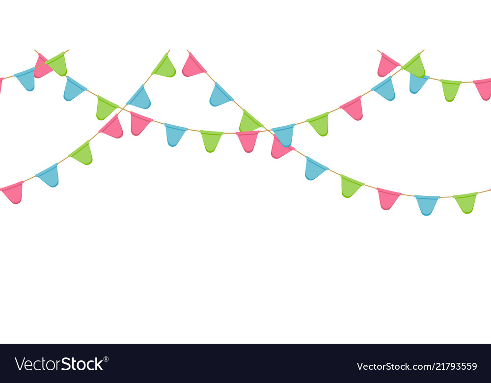Flag garland clipart graphic black and white download Seamless flag garland decoration chain pink graphic black and white download