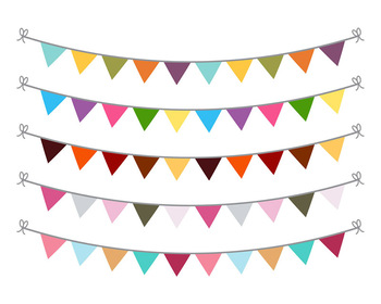 Flag garland clipart picture transparent download Bunting Clipart, Bunting Banner Graphics, Garland Clipart, Bunting SVG,  Birthday picture transparent download