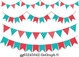 Flag garland clipart image library download Flag Garland Clip Art - Royalty Free - GoGraph image library download