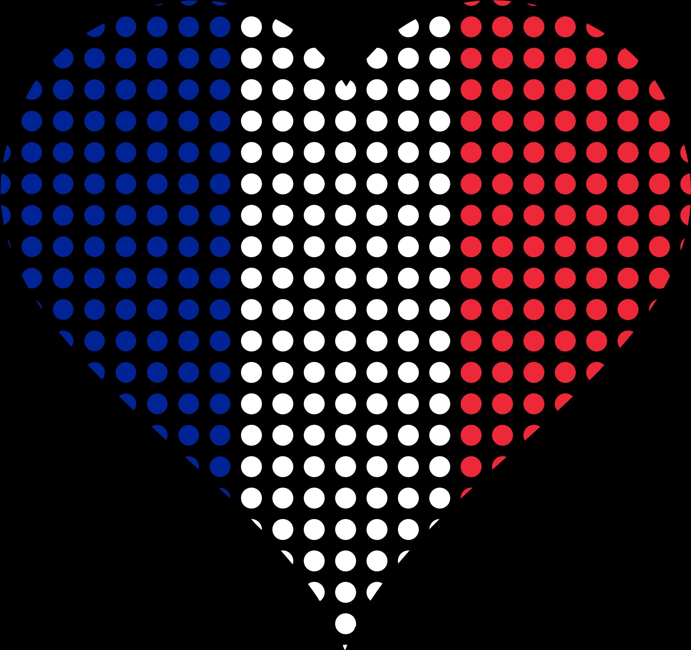 Polka dot heart clipart clip art download Clipart - Heart France Flag Circles clip art download