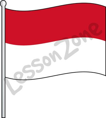 Flag of indonesia clipart picture library stock Lesson Zone AU - Flags picture library stock