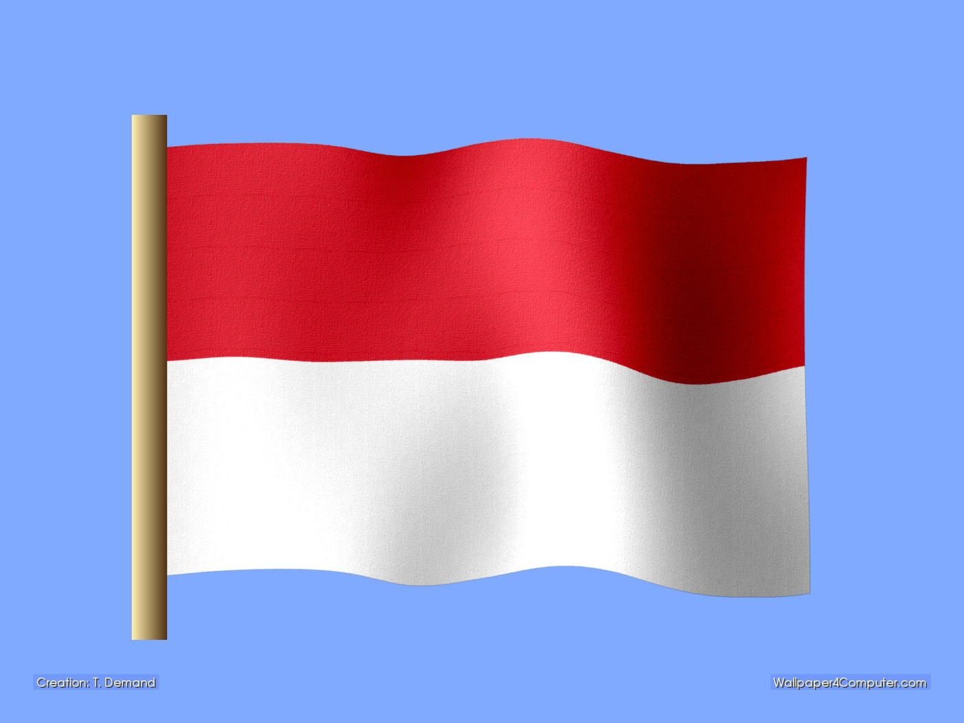 Flag of indonesia clipart picture library download Wallpaper for Computer - Indonesian flag desktop wallpaper - 1400 ... picture library download