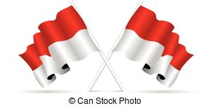 Flag of indonesia clipart vector freeuse stock Indonesia flag Clip Art and Stock Illustrations. 2,529 Indonesia ... vector freeuse stock