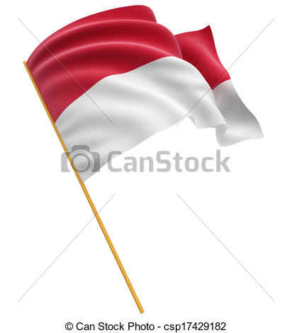 Flag of indonesia clipart banner freeuse stock Stock Illustration of 3D Indonesian flag with fabric surface ... banner freeuse stock
