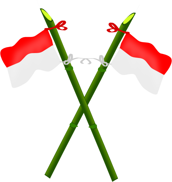 Flag of indonesia clipart free stock Bamboo And Indonesian Flag-2 Clip Art at Clker.com - vector clip ... free stock