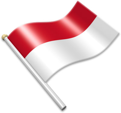 Flag of indonesia clipart free library Flag Icons of Indonesia | 3D Flags - Animated waving flags of the ... free library