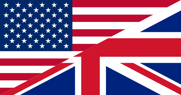 Flag of united kingdom clipart svg freeuse download Flags Of The United States And The United Kingdom clip art Free ... svg freeuse download