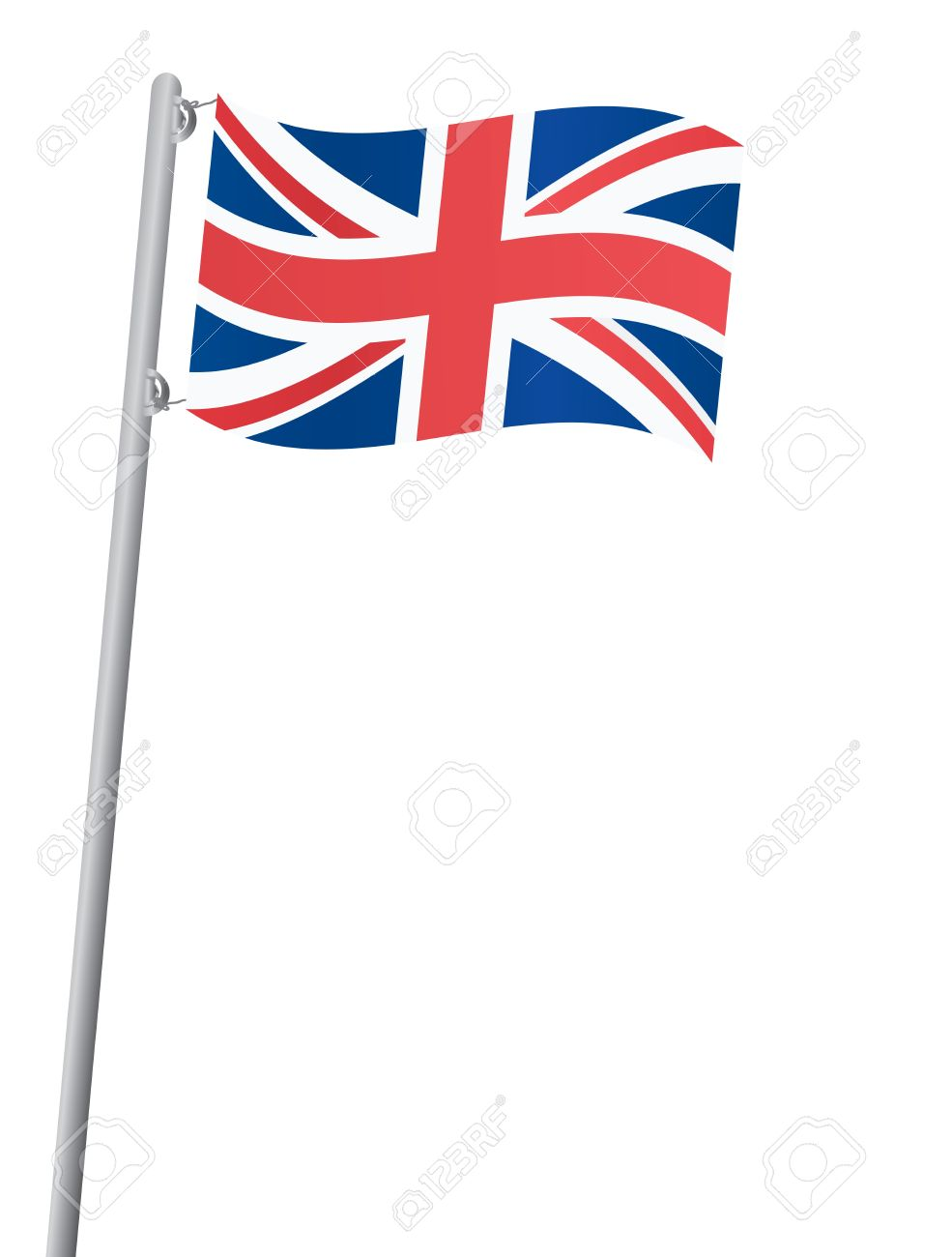 Flag of united kingdom clipart png United Kingdom Flag On A Flagstaff Vector Illustration Royalty ... png