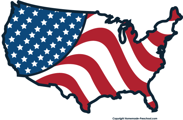 Flag of united states clipart picture library stock Us flag american flag united states clipart 2 clipartcow clipartix ... picture library stock
