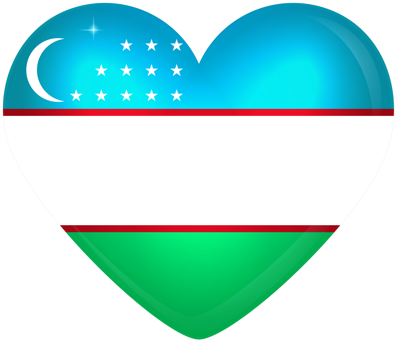 Flag of uzbekistan clipart royalty free download Uzbekistan Large Heart Flag | Gallery Yopriceville - High-Quality ... royalty free download
