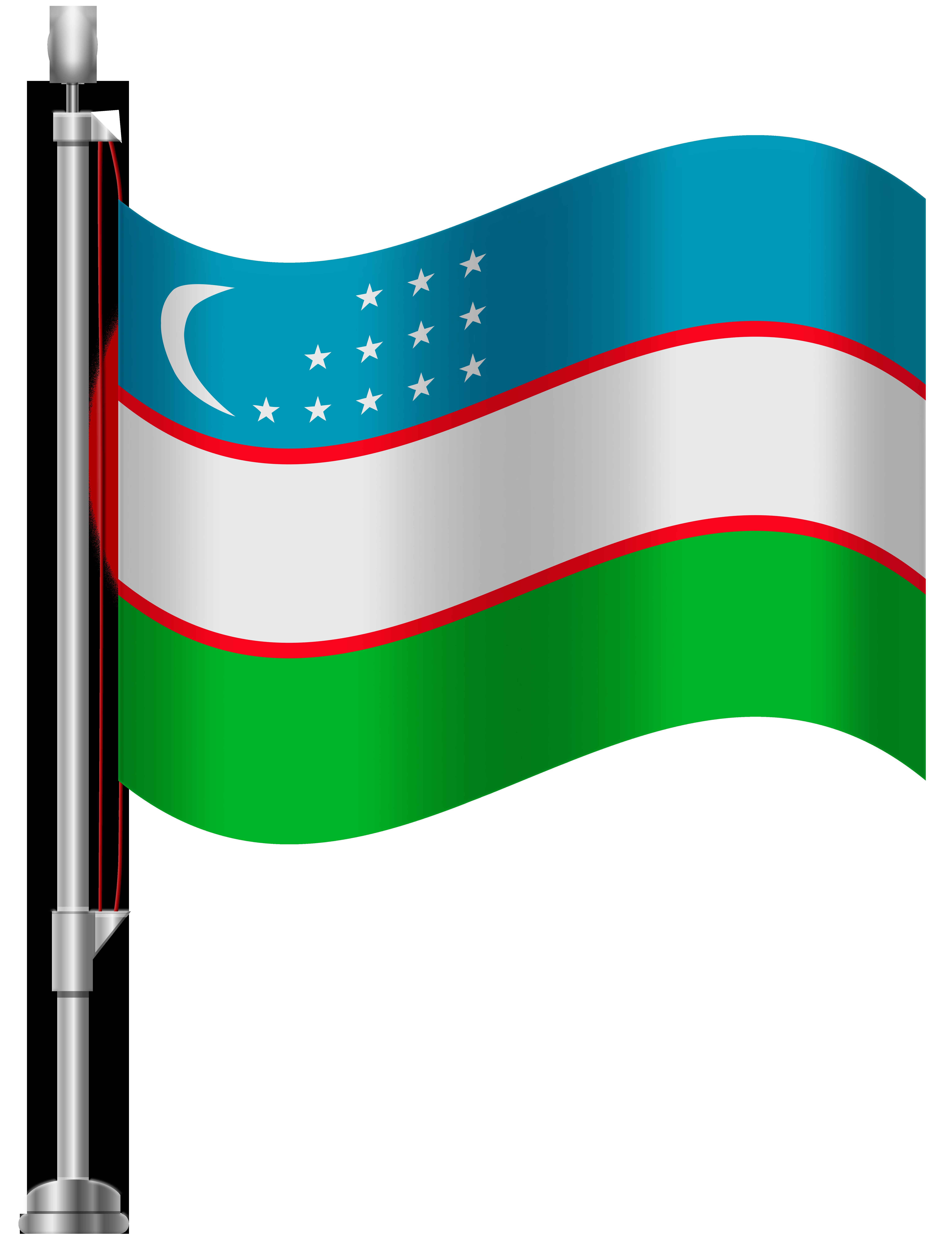 Flag of uzbekistan clipart. Png clip art best