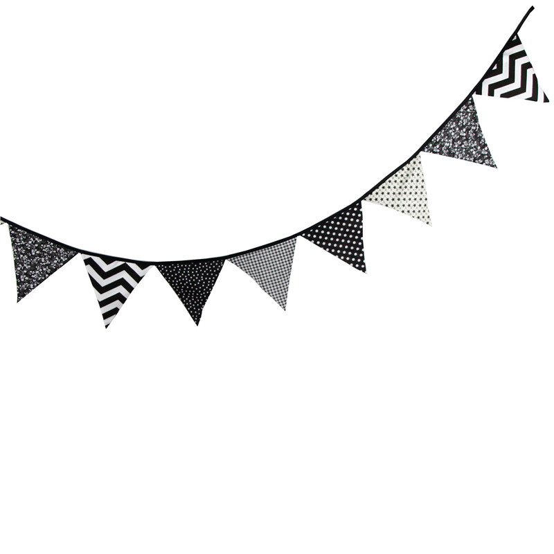 Flag pennant banner black and white clipart. Free download best on