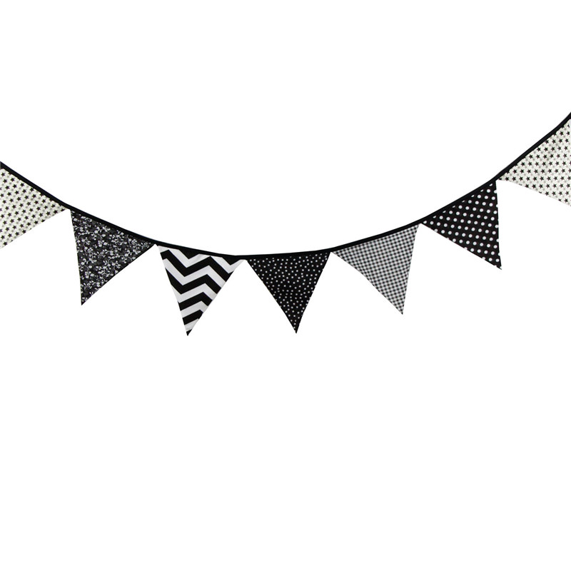 Flag pennant banner black and white clipart clip art transparent stock 12 Flags 3.2m Special Black and White Cotton Fabric Bunting Pennant ... clip art transparent stock