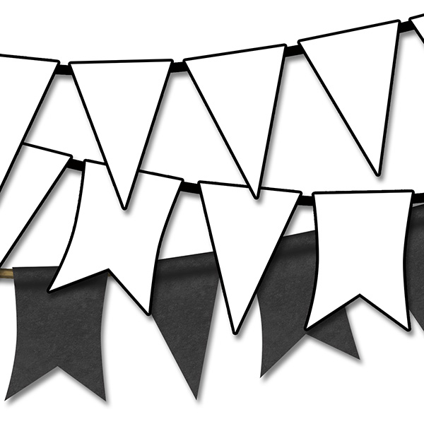 Flag pennant banner black and white clipart clip art freeuse stock Black And White Pennant Banner Png & Free Black And White Pennant ... clip art freeuse stock
