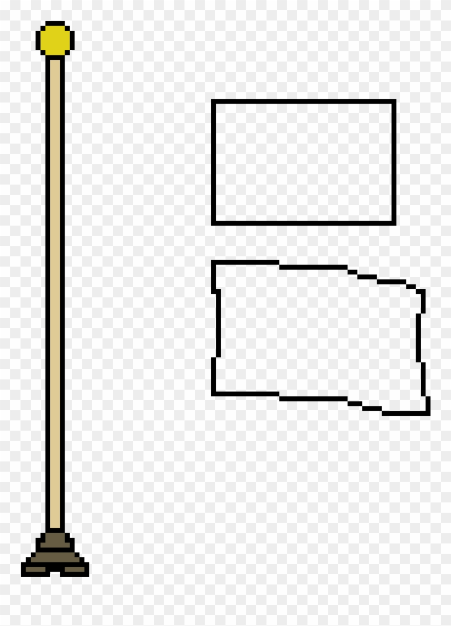 Flagpole pictures clipart vector black and white stock Flag Pole - Flag With Pole Pixel Clipart (#818099) - PinClipart vector black and white stock