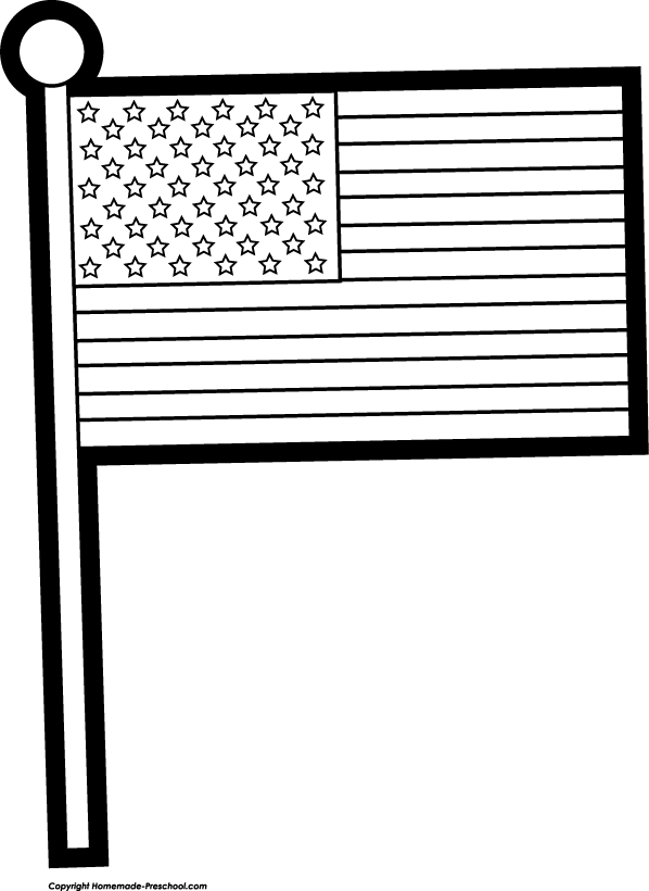 Flags in stand clipart black and white. Free american
