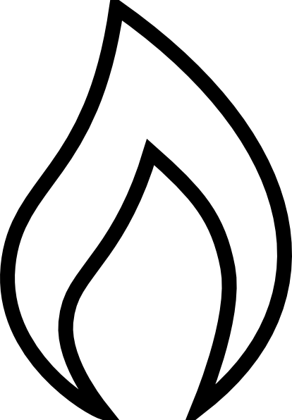 Free black and white flame clipart. Images of flames download