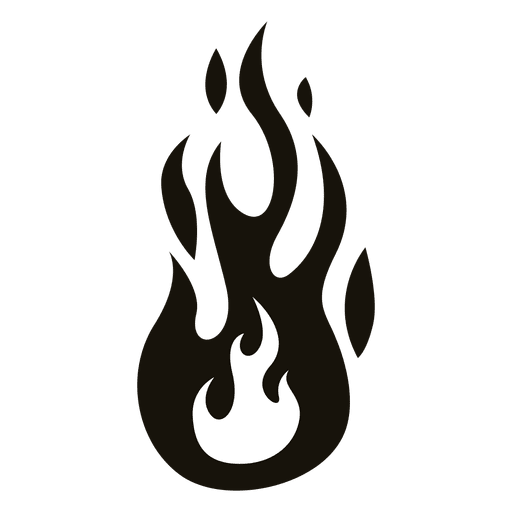 Flame clipart black and white simple picture black and white Single Fire Flame Clipart Black And White - Free Clipart picture black and white