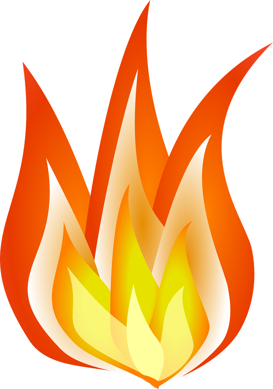 Flame fire clipart. Printable flames how to