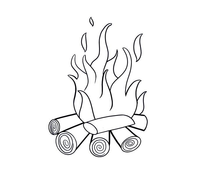 Flame heart clipart clipart royalty free stock 28+ Collection of Images Of Fire Drawing | High quality, free ... clipart royalty free stock