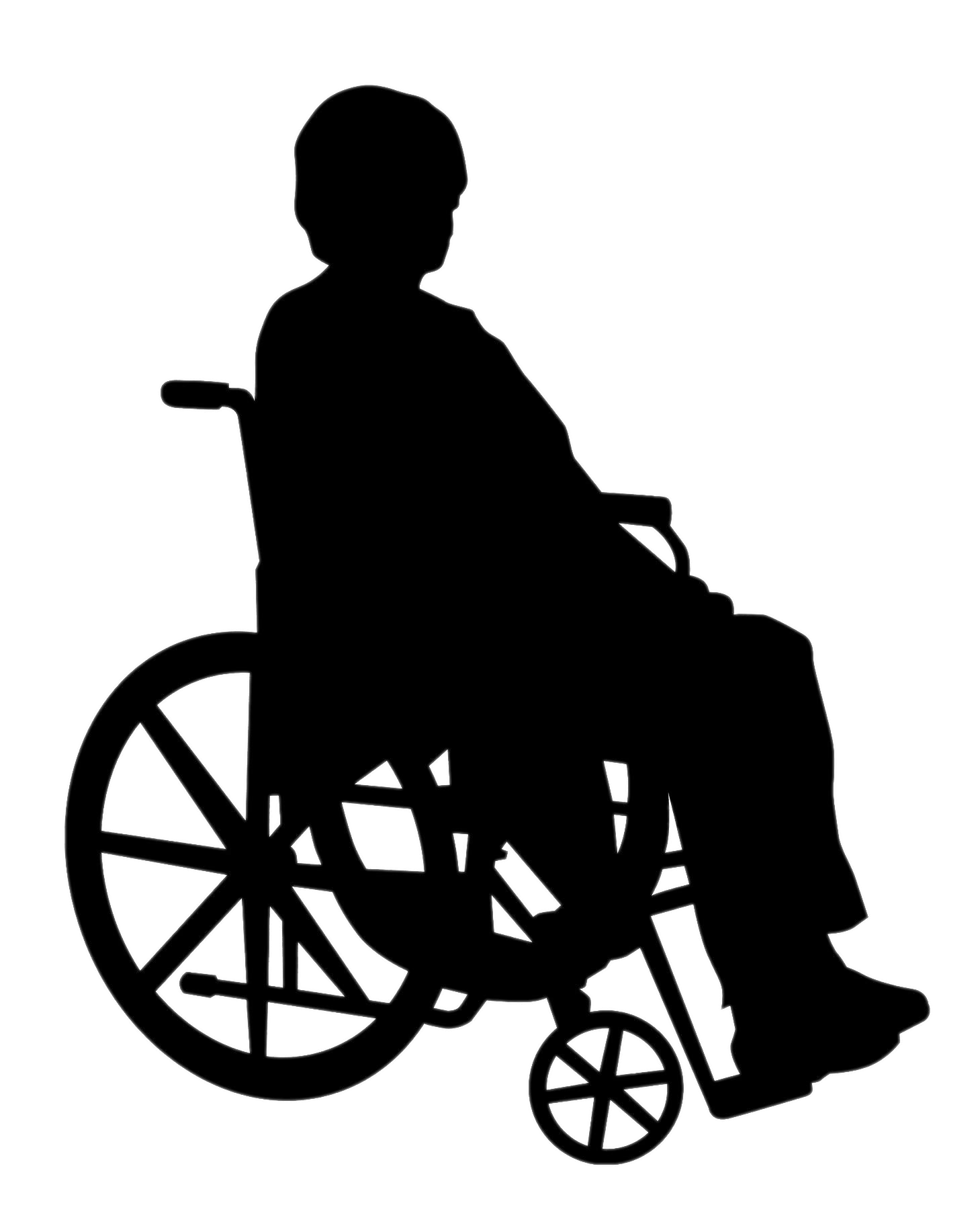 Wheelchair basketball clipart png black and white stock Silhouette Wheelchair at GetDrawings.com | Free for personal use ... png black and white stock