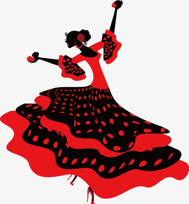 Flamenco clipart. Dancer png backgrounds cartoon
