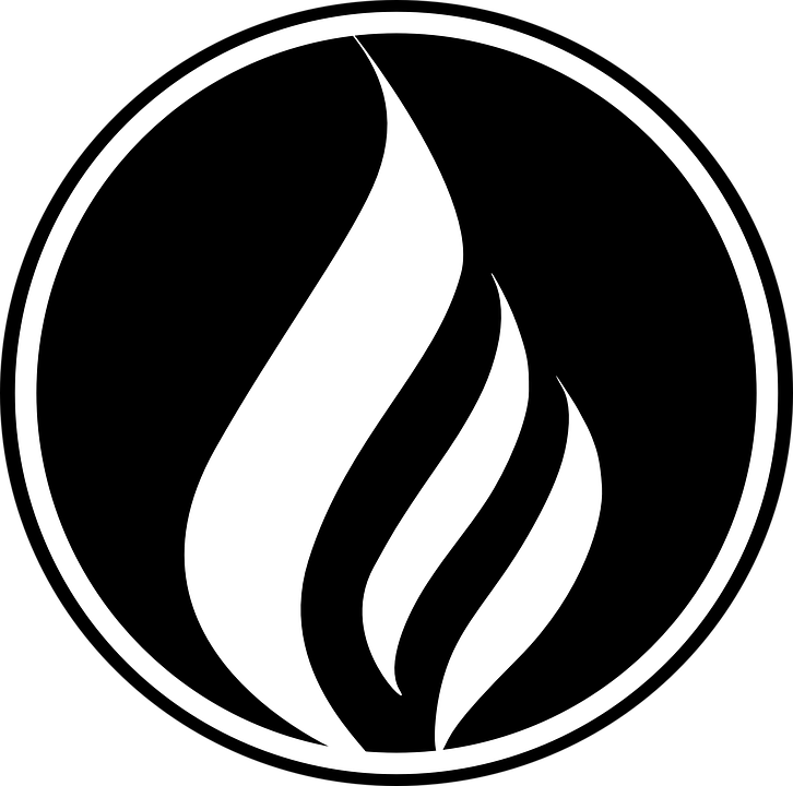 Flames in a circle patterns clipart black and white free banner freeuse Free Image on Pixabay - Fire, Flame, Black, Circle, Logo   Fire ... banner freeuse