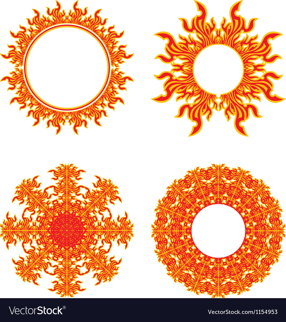 Flames in a circle patterns clipart black and white free clipart black and white stock Circle of fire clipart black and white stock