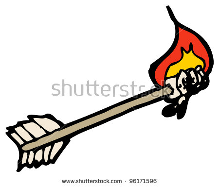 Flaming arrow clipart free clipart freeuse download Flaming Arrow Stock Photos, Royalty-Free Images & Vectors ... clipart freeuse download