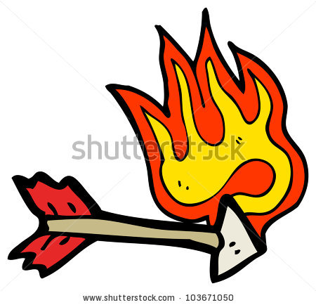Flaming arrow clipart free clipart transparent library Arrow Flame Stock Photos, Royalty-Free Images & Vectors - Shutterstock clipart transparent library