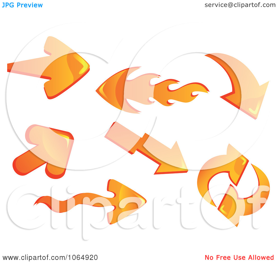 Flaming arrow clipart free banner Clipart 3d Orange And Flame Arrows - Royalty Free Vector ... banner